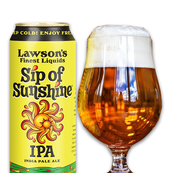 Sip of Sunshine - can and full glass